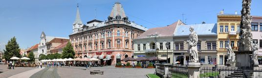 Central street in Košice. Royalty Free Stock Photography