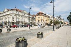 The central street krakowskie przedmiescie warsaw poland europe Stock Images