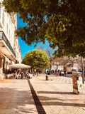 Street in Lisbon. Central street in Lisbon royalty free stock photography