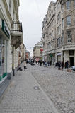 The central street in Lvov Stock Images