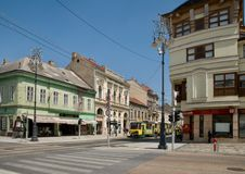 Central street  in Miskolc Stock Images