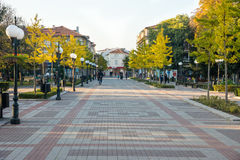 The central street in the old Pomorie, Bulgaria Stock Image