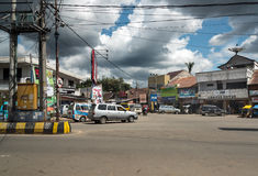 On the central street in Rantepao. Rantepao, Indonesia - Dec 07, 2015: On the central street in Rantepao, Tana Toraja, Sulawesi. Rantepao is cultural center of Stock Images