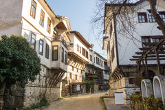 The central street of the town of Melnik, Bulgaria Royalty Free Stock Photo