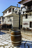 Central Street and Traditional stone built house from the Revival period in Melnik town,  Bulgaria Royalty Free Stock Photography