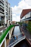 Central street of Zaandam, Netherlands Stock Photo