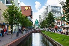 Central street of Zaandam, Netherlands Stock Photos