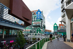 Central street of Zaandam, Netherlands Stock Images