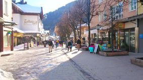 Central street of Zell am See, Austria stock video