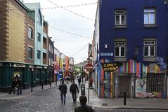 Central streets of Dublin Royalty Free Stock Photography
