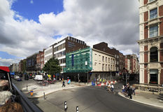 Central streets of Dublin Stock Image