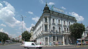 The central streets in Varna, Bulgaria stock footage