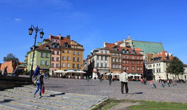 The central streets of Warsaw Stock Photography