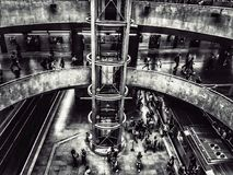 Central subway station. Lines crossing. royalty free stock image
