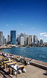 Central sydney CBD  area skyline and circular quay in australia Royalty Free Stock Photo