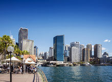 Central sydney CBD  area skyline and circular quay in australia Royalty Free Stock Image