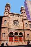 Central Synagogue. NEW YORK CITY - USA, MAY 16: Central Synagogue, New York City, the oldest synagogue in continuous use in the city.on May 16, 2010 in New York stock image