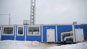 Central térmica e Rússia no inverno filme