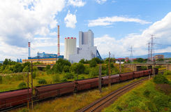 Central térmica em República Checa fotos de stock royalty free