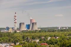 Central térmica - Lagisza, Polonia, Europa Foto de archivo libre de regalías