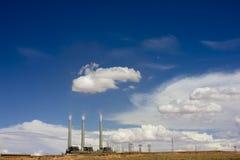 Central térmico en Arizona, los E.E.U.U. Fotos de archivo libres de regalías