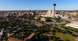 Central Tejas de San Antonio Skyline Aerial Panoramic South metrajes