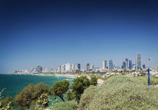 Central tel aviv skyline in israel Stock Photos