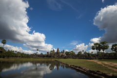 Central temple of Angkor Wat Royalty Free Stock Images