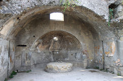 Central Thermae in Roman Herculaneum, Italy Royalty Free Stock Photo