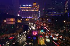 Central Tibet Road, Shanghai Royalty Free Stock Photos