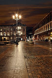 Central toulouse street at night Royalty Free Stock Image