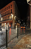 Central toulouse street at night Royalty Free Stock Photo