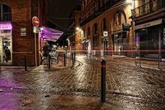 Central toulouse street at night Stock Photo