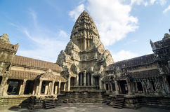 Central Tower of Angkor Wat Stock Photo