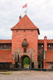 The central tower of the castle in Trakai Royalty Free Stock Photo