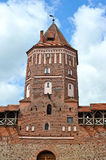 Central tower of the Mir castle Stock Photography