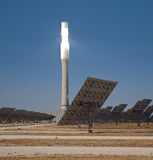Central tower solar thermal Stock Images