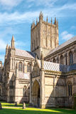 Central tower of Wells cathedral Stock Photo