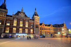 Central Train Station - Amsterdam, The Netherlands Royalty Free Stock Photo