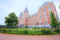 Central train station of Amsterdam (super-wide angle) Royalty Free Stock Images