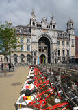 Central train station of Antwerp, Belgium Royalty Free Stock Images