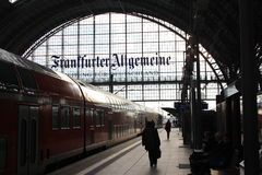 Frankfurt Train Station Royalty Free Stock Photo