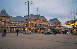 Central train station of Gothenburg city stock image