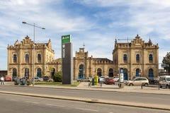 Central train station in Huelva, Spain. Huelva, Spain - June 3, 2017: The central train station in the city of Huelva. Andalusia, Spain Stock Images