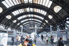 Central Train Station of Milan Royalty Free Stock Photography