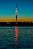 Central TV Tower Night Royalty Free Stock Images