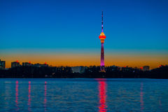 Central TV Tower Night Royalty Free Stock Photo