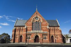 Central Uniting Church, Ballarat, Australia. Central Uniting Church in the City of Ballarat, Victoria, Australia royalty free stock photo