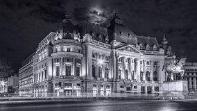 Carol I Central University Library of Bucharest. Was founded in 1895 and designed by French architect Paul Gottereau stock image