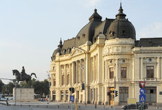 Central University Library of Bucharest. A city located in Romania stock images